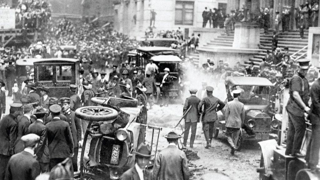 1er attentat terroriste sur le sol américain en 1920