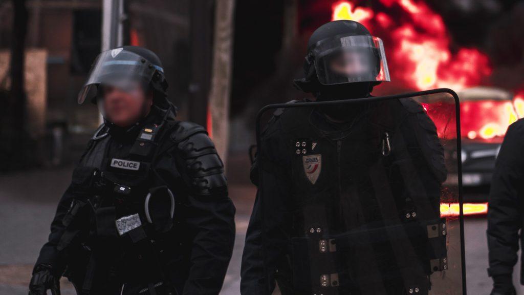 policiers municipaux dans le quartier du Sanitas
